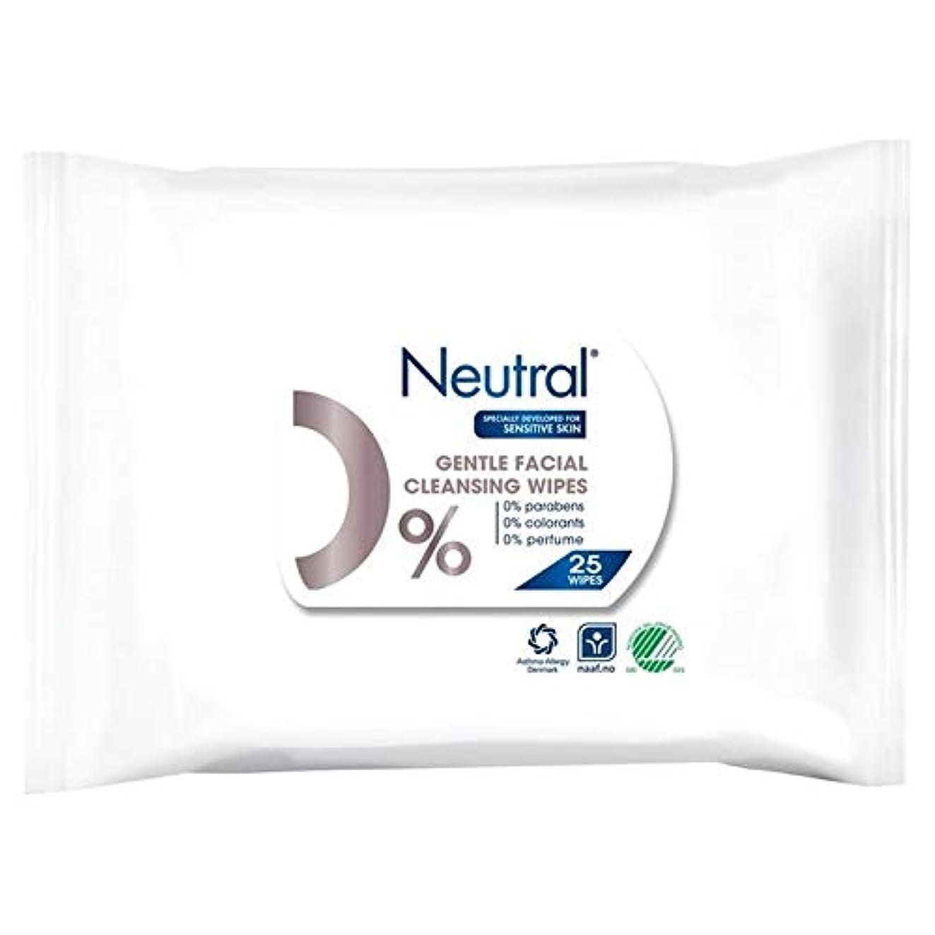 投げ捨てるフェンス残り[Neutral ] ニュートラル0%顔はパックあたり25ワイプ - Neutral 0% Face Wipes 25 per pack [並行輸入品]