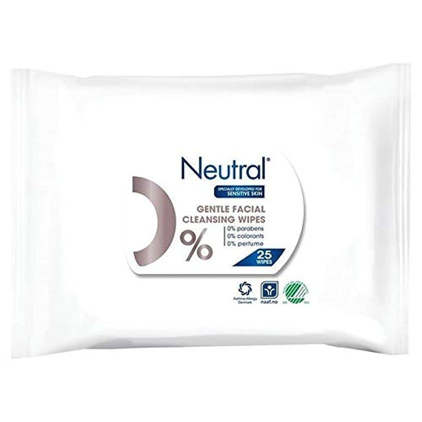 [Neutral ] ニュートラル0%顔はパックあたり25ワイプ - Neutral 0% Face Wipes 25 per pack [並行輸入品]
