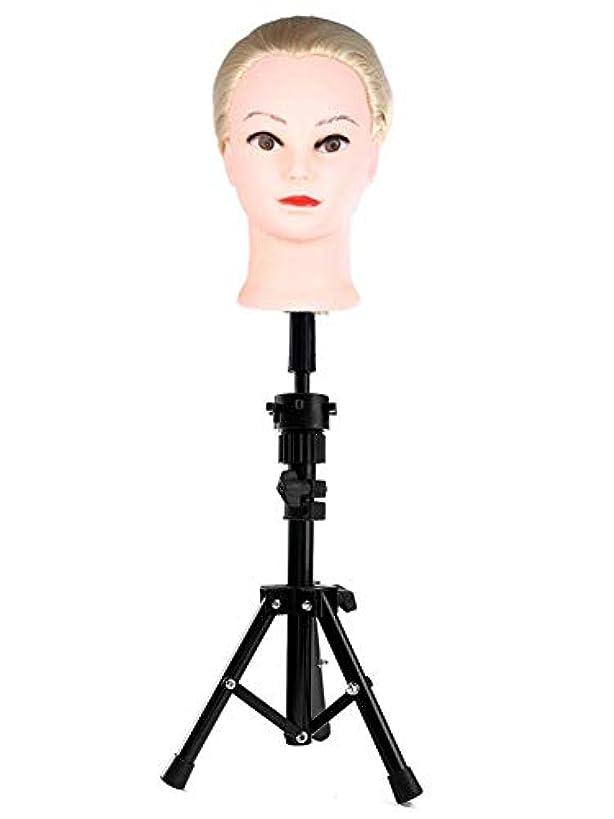 スラダム無礼に敏感なスタンド付きで調整可能なヘアサロン三脚エクササイズヘッド用に調整可能な三脚調整可能な理髪三脚キャリングケース付きエクササイズヘッド用に調整可能なステンレス三脚