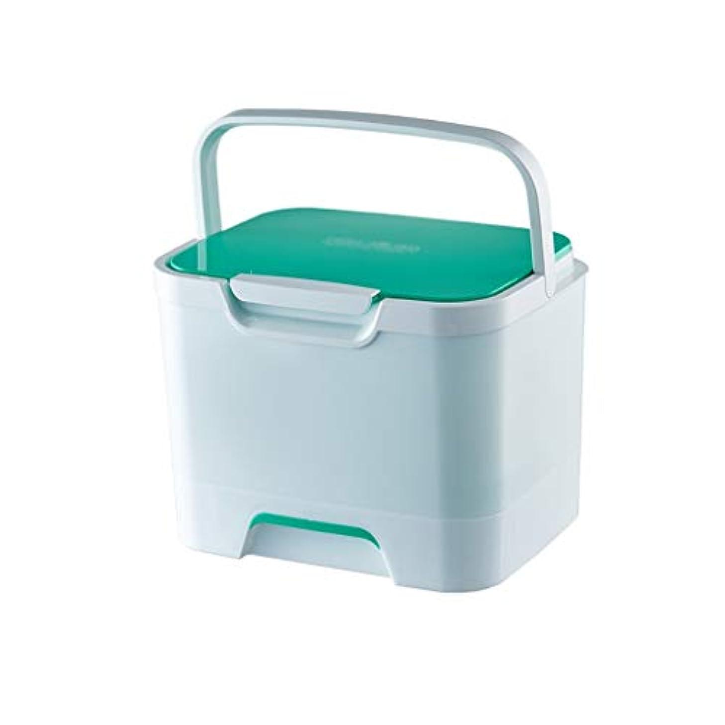 中で蒸気資源医学の箱のバックルの設計緑25.3×20.3×19.2cmが付いている多層携帯用世帯の大容量のプラスチック医学の収納箱 SYFO