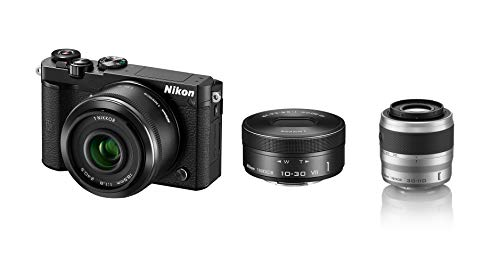 Nikon ミラーレス一眼 Nikon1 J5 ダブルレンズキット ブラック J5WLKBK +望遠ズームレンズ 1 NIKKOR VR 30-110mm f/3.8-5.6 シルバー ニコンCXフォーマット専用 セット