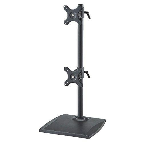 イーサプライ モニターアーム スタンド 2面 24インチ 対応 EEX-LA006W