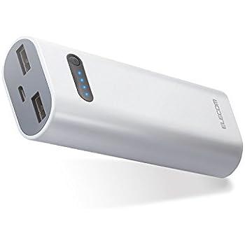 エレコム モバイルバッテリー 充電器 6400mAh 2.6A出力 おまかせ充電対応 ホワイト DE-M01L-6400WH