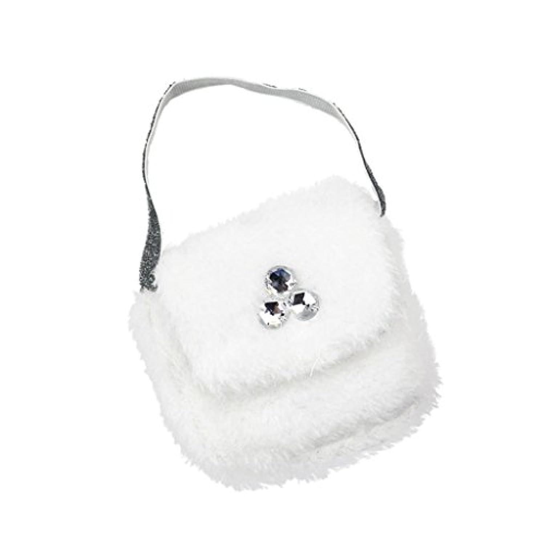 Dovewill  18インチ アメリカンガールドール用 ファッション  白色  ぬいぐるみ ハンドバッグ パーティー アクセサリー