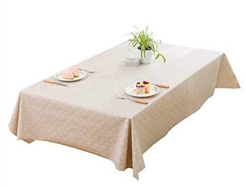 Kooyi テーブルクロス テーブルカバー 防水防油 撥水 厚手 北欧 PVC (人気-7, 137x185cm)