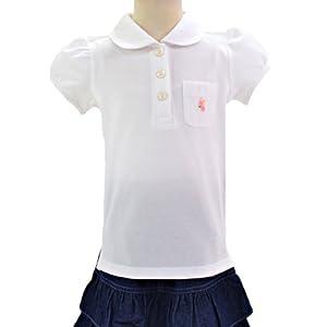 ポロシャツ・女 半袖 日本製 (女の子) 140cmサイズ ホワイト こじか N1502240