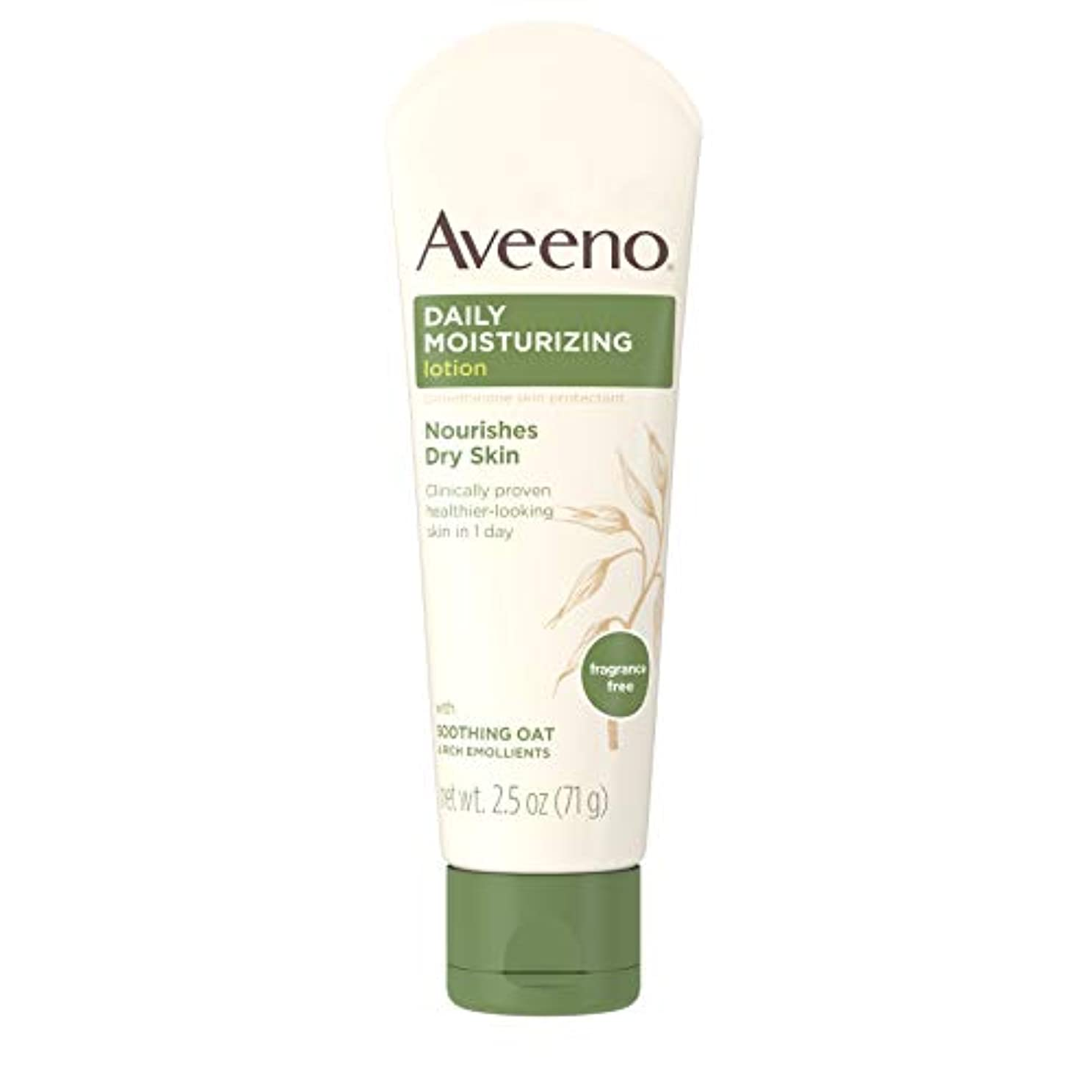 Aveeno Daily Moisturizing Lotion with Oatmeal and Rich Emollients Fragrance Free, 2.5 oz by Aveeno