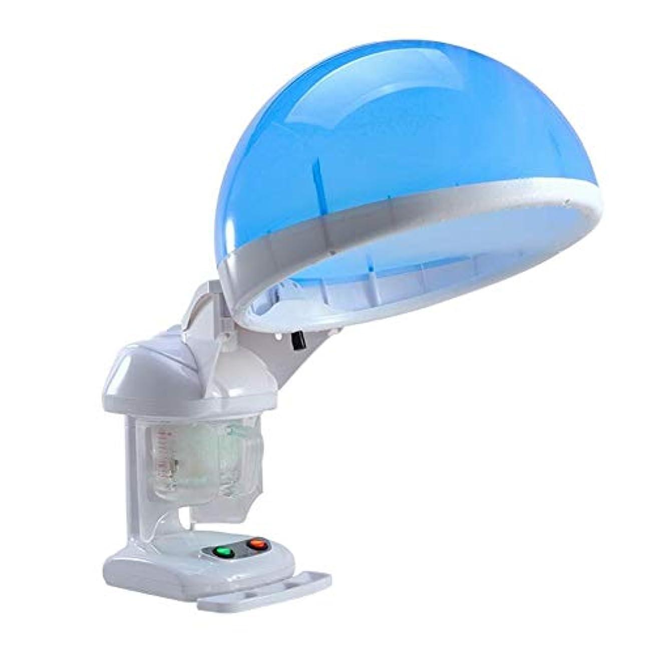 輝度端末肺HIZLJJ ラージ2-in-1ヘア&フェイシャルスチーマーフェイススチーマー加湿器ホットミストモイスチャライジングクリアブラックヘッズアクネフェイシャルハイドレーションサウナスパスキンケアフェイシャルアトマイザー