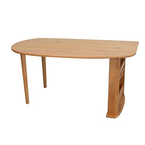 RoomClip商品情報 - 変形ダイニングテーブル単品 150cm×90cm アルダー無垢材 chesca(チェスカ)テーブル 食卓 円形