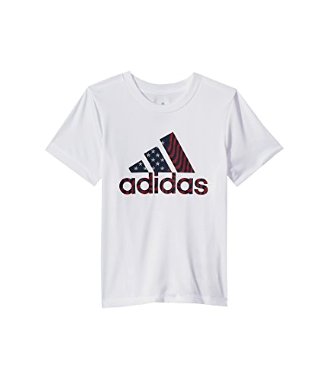 (アディダス) adidas キッズTシャツ USA Tee (Toddler/Little Kids) White 4 Little Kids (4歳) One Size