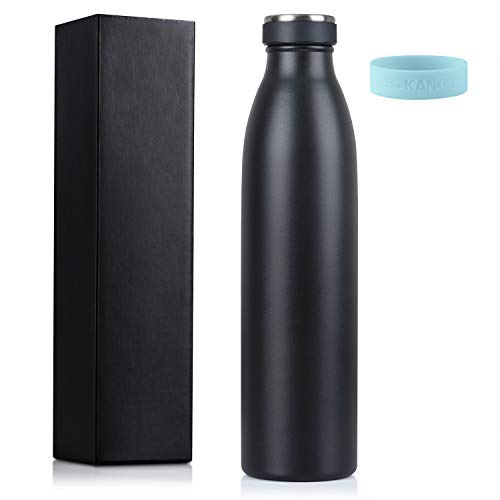 Love-KANKEI 水筒 マグボトル ステンレスボトル 真空断熱 保熱保冷 牛乳瓶 直飲み 750ML ブラック