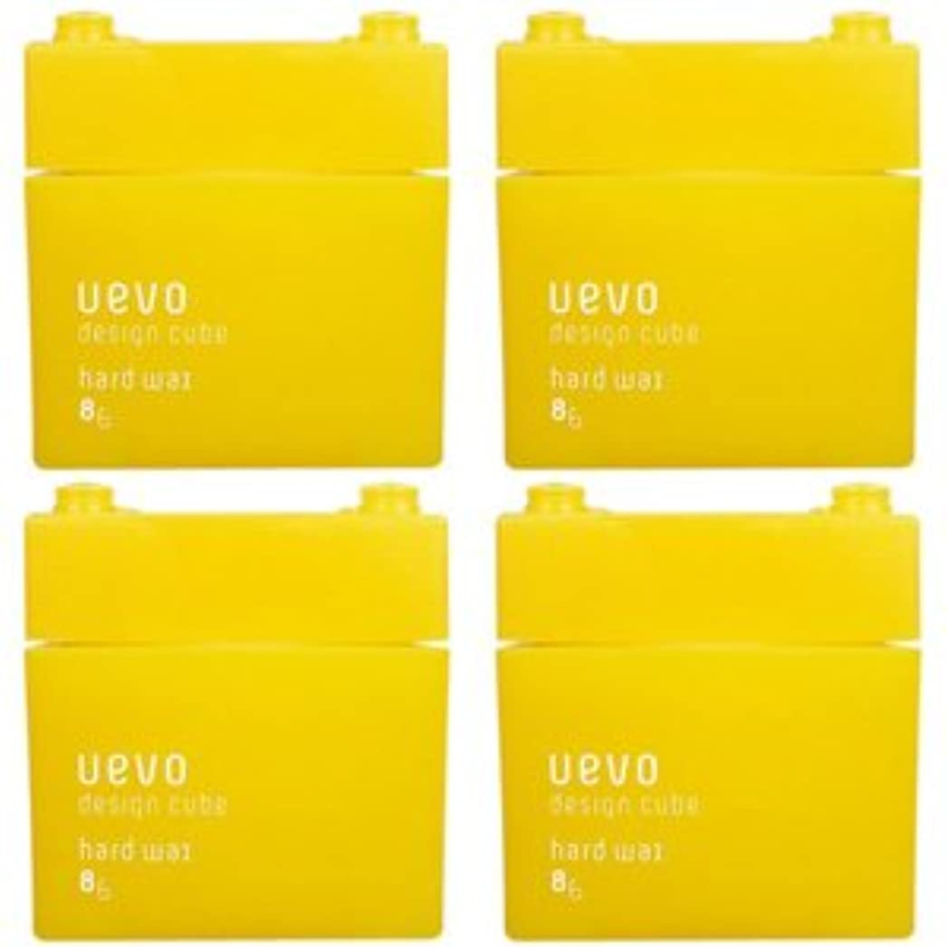 嵐の株式送った【X4個セット】 デミ ウェーボ デザインキューブ ハードワックス 80g hard wax DEMI uevo design cube