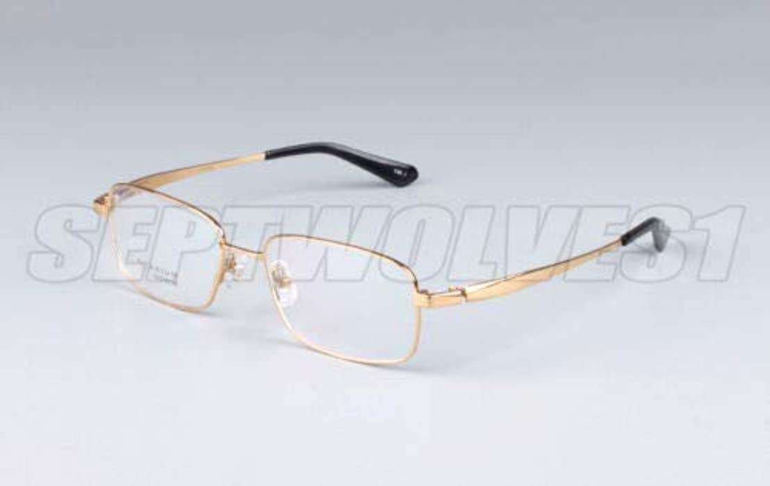 FidgetGear メンズ純チタン老眼鏡UV400コーティングレンズリーダー+0.00?+ 5.00 ゴールド