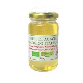 オーガニック生はちみつ(アカシア)250g 天然100%オーガニックハチミツ 非加熱・完全無添加の生蜂蜜(砂糖・水あめ不使用)