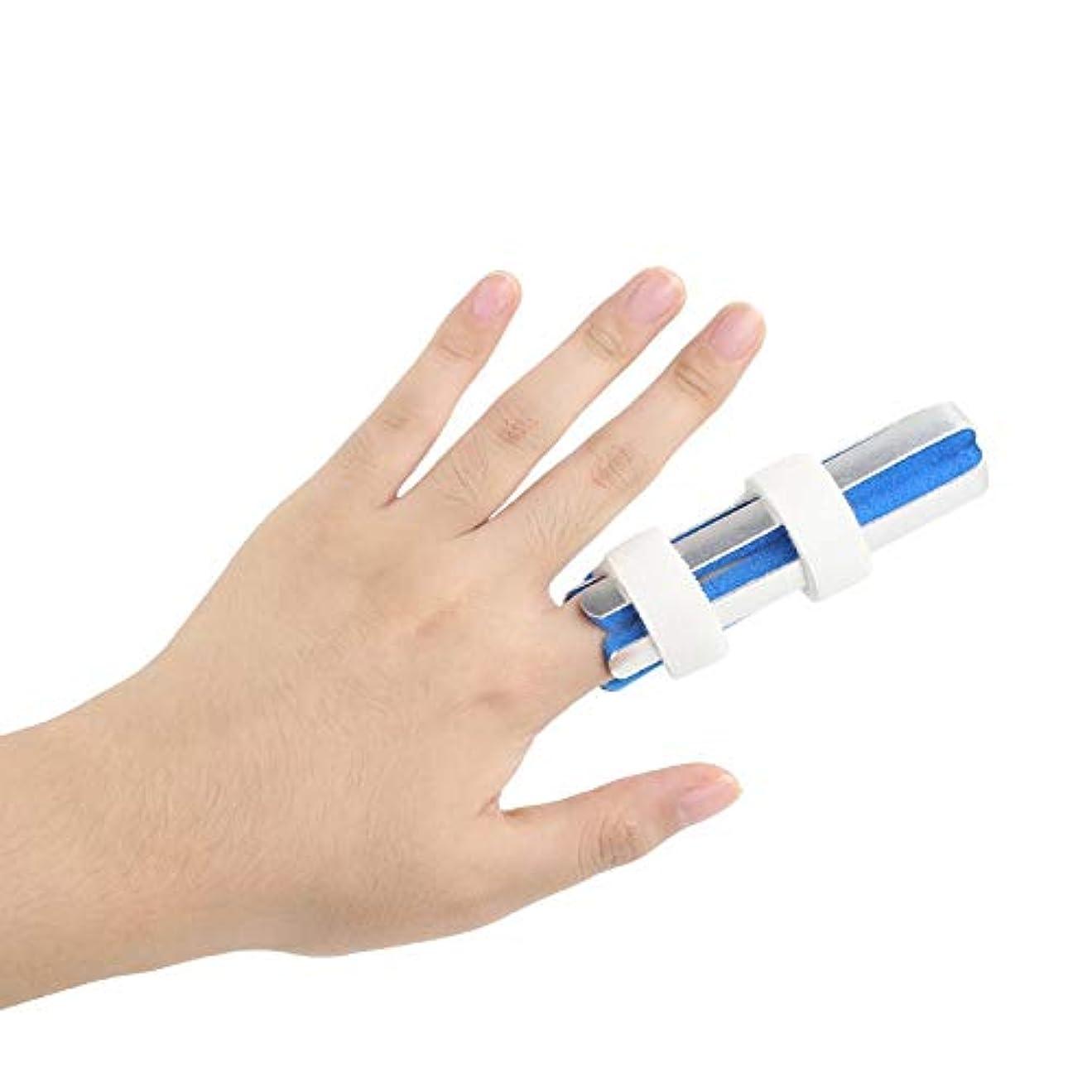 バドミントン耐えられない原点指骨折固定副木 - 保護指のカップリング装具脱臼の痛み指のけがの痛み保護指関節,S