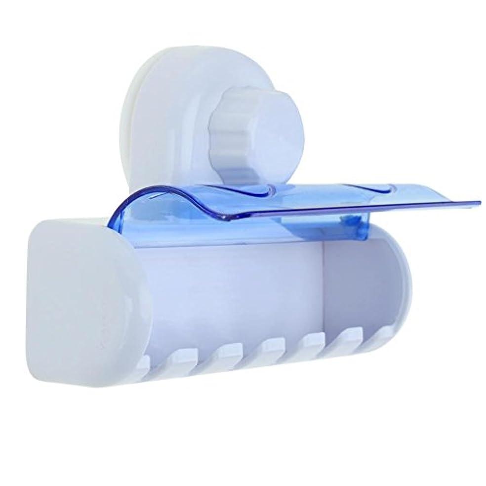 吸うふけるどこにでもDemiawaking 強力吸盤付き ハブラシラック 歯ブラシ6本収納対応 取り付け簡単 壁掛け ハブラシホルダー