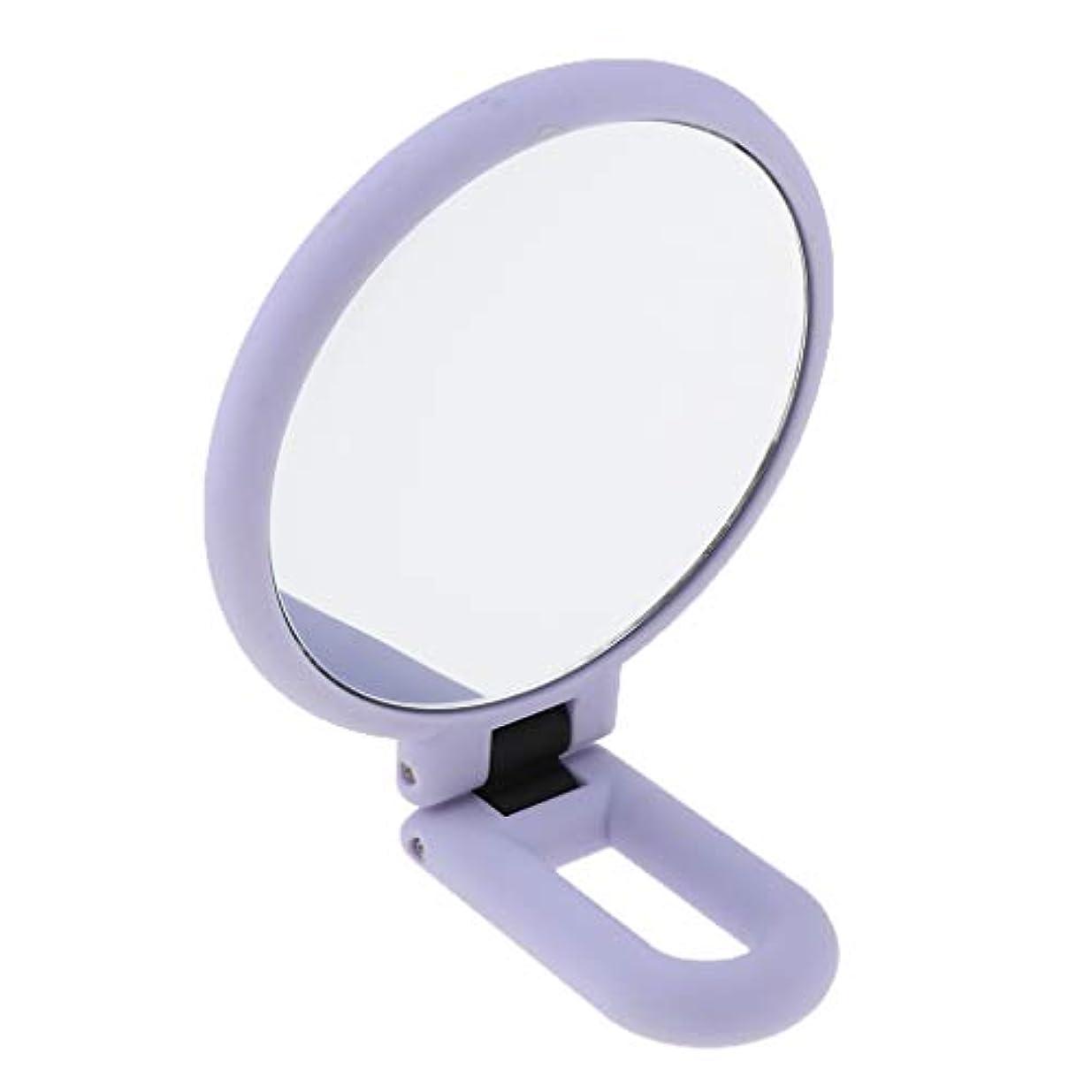 採用する迫害ウール折りたたみ拡大鏡両面化粧卓上旅行ハンドヘルド折りたたみミラー - 15倍の拡大鏡