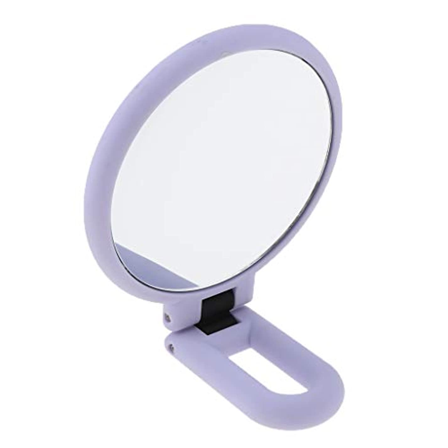 ゲインセイ晩餐難民折りたたみ拡大鏡両面化粧卓上旅行ハンドヘルド折りたたみミラー - 15倍の拡大鏡