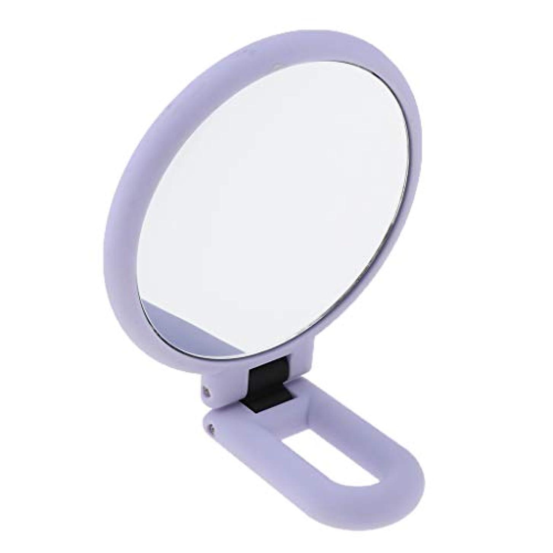 オーストラリア人多様な結び目折りたたみ拡大鏡両面化粧卓上旅行ハンドヘルド折りたたみミラー - 15倍の拡大鏡