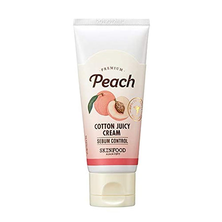 海港姓ディスクSkinfood プレミアムピーチコットンジューシークリーム/Premium Peach Cotton Juicy Cream 60ml [並行輸入品]