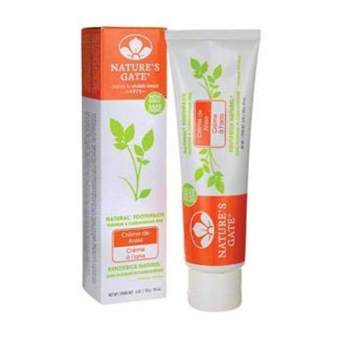 トンネルスライス素敵な海外直送品Toothpaste Creme De, Anise 6 Oz by Nature's Gate