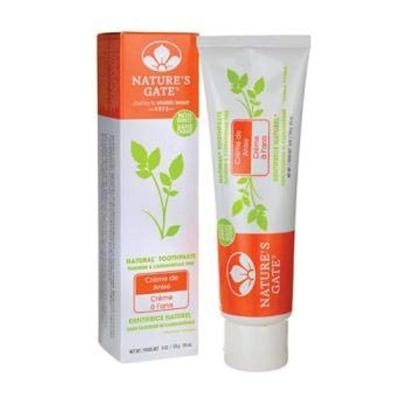 エコーシェフいう海外直送品Toothpaste Creme De, Anise 6 Oz by Nature's Gate