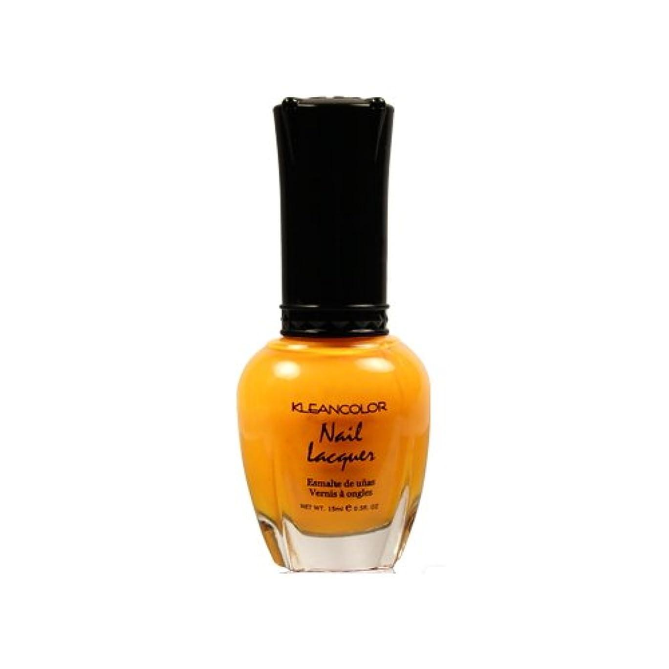 乱れ実際にポーン(6 Pack) KLEANCOLOR Nail Lacquer 4 - Mango Burst (並行輸入品)
