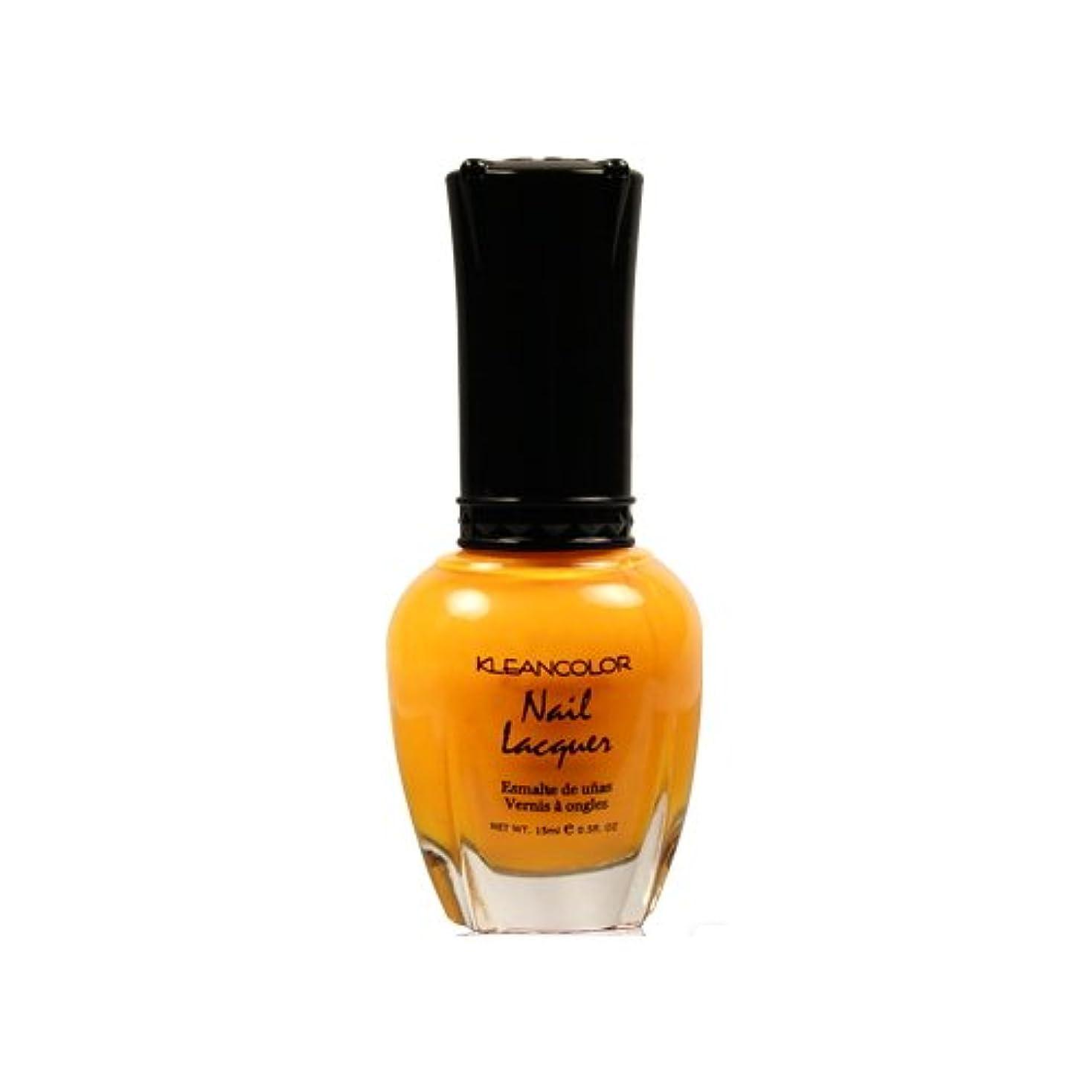 平凡暗殺する鎮静剤(6 Pack) KLEANCOLOR Nail Lacquer 4 - Mango Burst (並行輸入品)