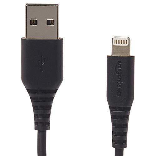 Amazonベーシック ライトニングUSB Aケーブル Apple MFi認証済み 1.8m(6フィート) 黒