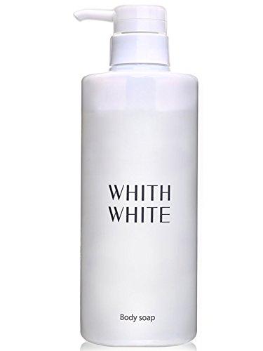 【 エレガントフローラルのいい香り 】 フィス ホワイト ボディソープ 無添加 保湿 ボディーソープ 「 泡で黒ずみ さっぱり ボディシャンプー 」「 ヒアルロン酸 コラーゲン セラミド 配合」450ml