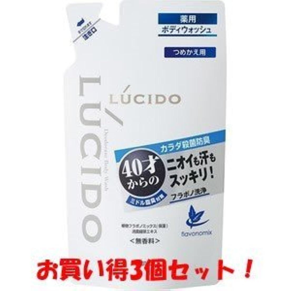 ブロックする成功したずんぐりした【LUCIDO】ルシード 薬用デオドラントボディウォッシュ つめかえ用 380ml(医薬部外品)(お買い得3個セット)