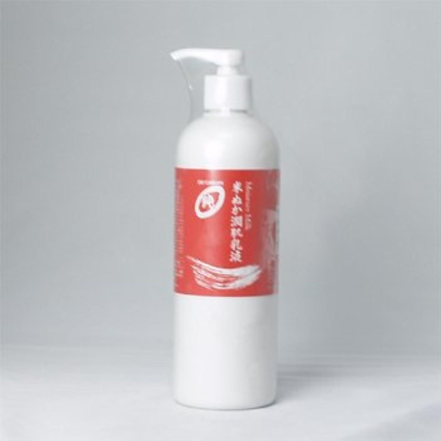 花束定規吐き出すオリザ ジュン モイスチャーミルク 米ぬか潤肌乳液 400mlポンプ