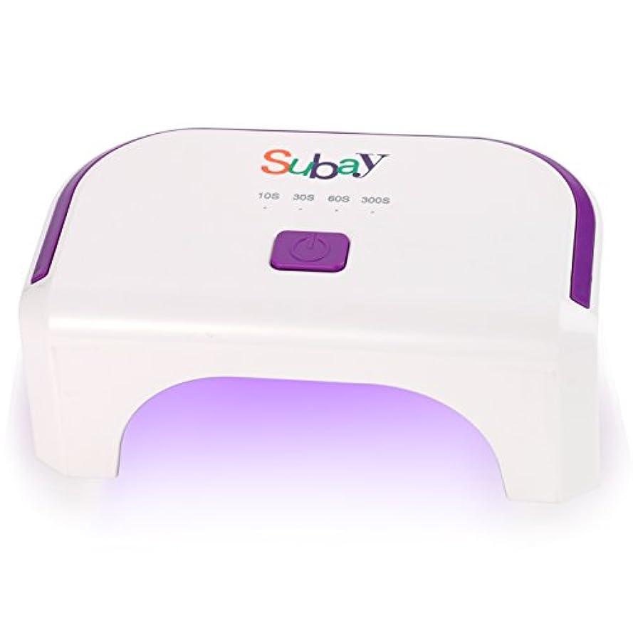 集中症候群バックグラウンド12W LED ネイルドライヤー ジェルネイル硬化用 四つタイマー設定可能 小型 ライト (白)