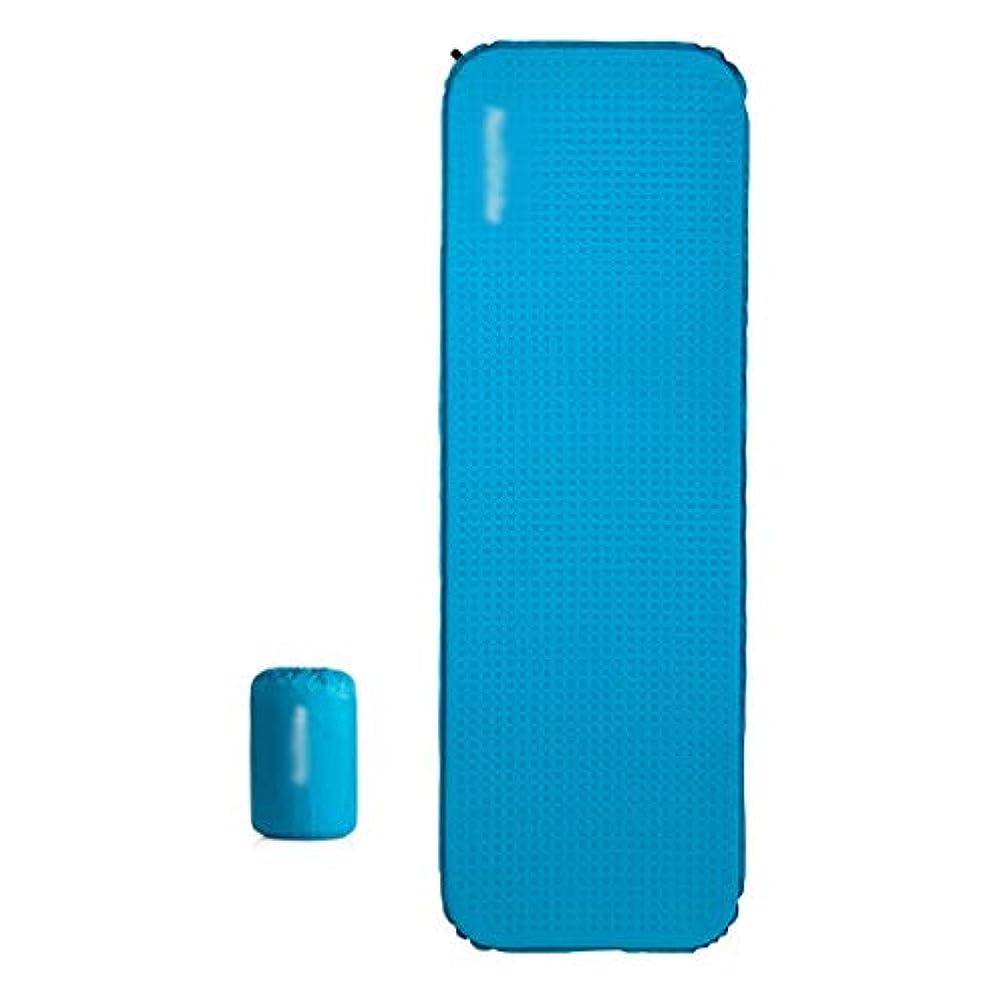 移動する行為天皇屋外超軽量キャンプスリーピングパッド、自動インフレータブルクッションポータブル防湿3センチ厚いスポンジエアクッションシングルバックパック旅行 (Color : Blue, Size : 198x65x3cm)