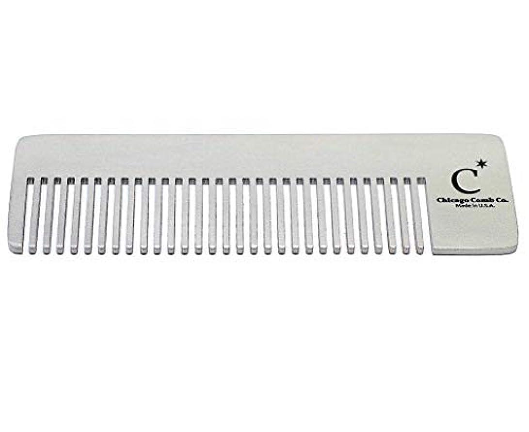 レディ肥沃な特別なChicago Comb Model 4 Standard, Made in USA, Stainless Steel, Ultimate Pocket Comb, Beard & Mustache, Medium-Fine...
