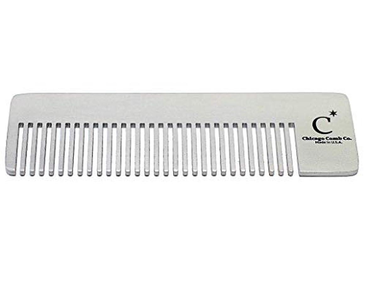 予測ラオス人亜熱帯Chicago Comb Model 4 Standard, Made in USA, Stainless Steel, Ultimate Pocket Comb, Beard & Mustache, Medium-Fine...