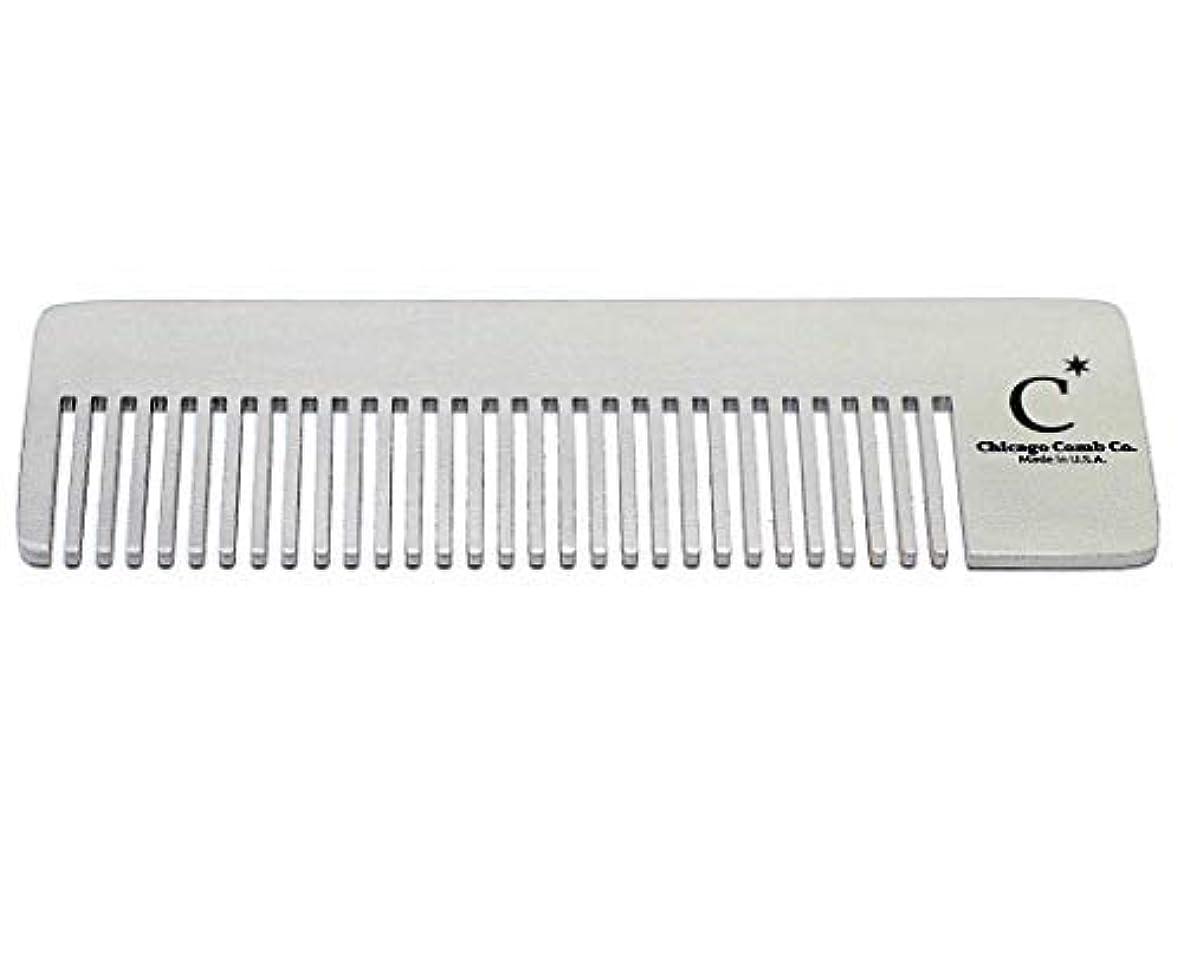 異常二次バインドChicago Comb Model 4 Standard, Made in USA, Stainless Steel, Ultimate Pocket Comb, Beard & Mustache, Medium-Fine...