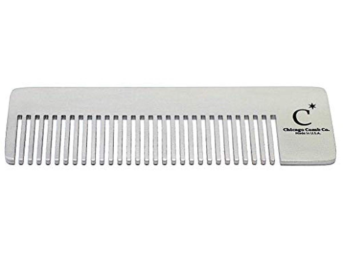 有害な圧縮する暗殺Chicago Comb Model 4 Standard, Made in USA, Stainless Steel, Ultimate Pocket Comb, Beard & Mustache, Medium-Fine...