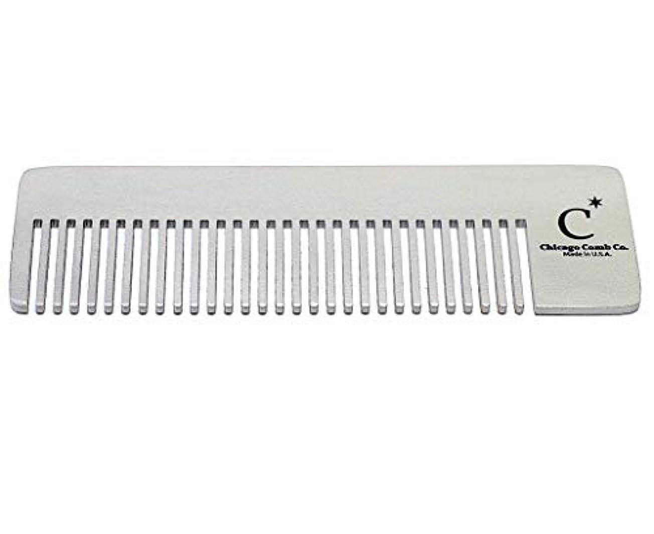 バケット安西どちらかChicago Comb Model 4 Standard, Made in USA, Stainless Steel, Ultimate Pocket Comb, Beard & Mustache, Medium-Fine...