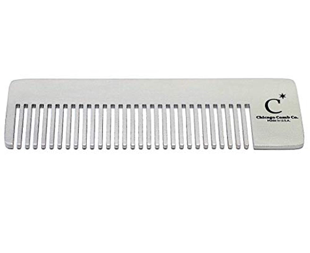 Chicago Comb Model 4 Standard, Made in USA, Stainless Steel, Ultimate Pocket Comb, Beard & Mustache, Medium-Fine...