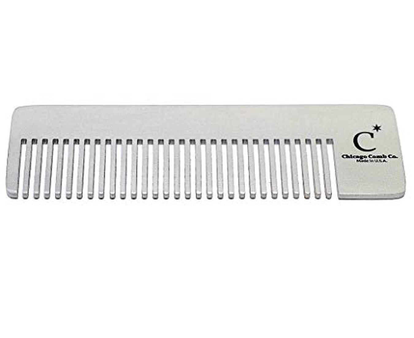 合法以前は南アメリカChicago Comb Model 4 Standard, Made in USA, Stainless Steel, Ultimate Pocket Comb, Beard & Mustache, Medium-Fine...