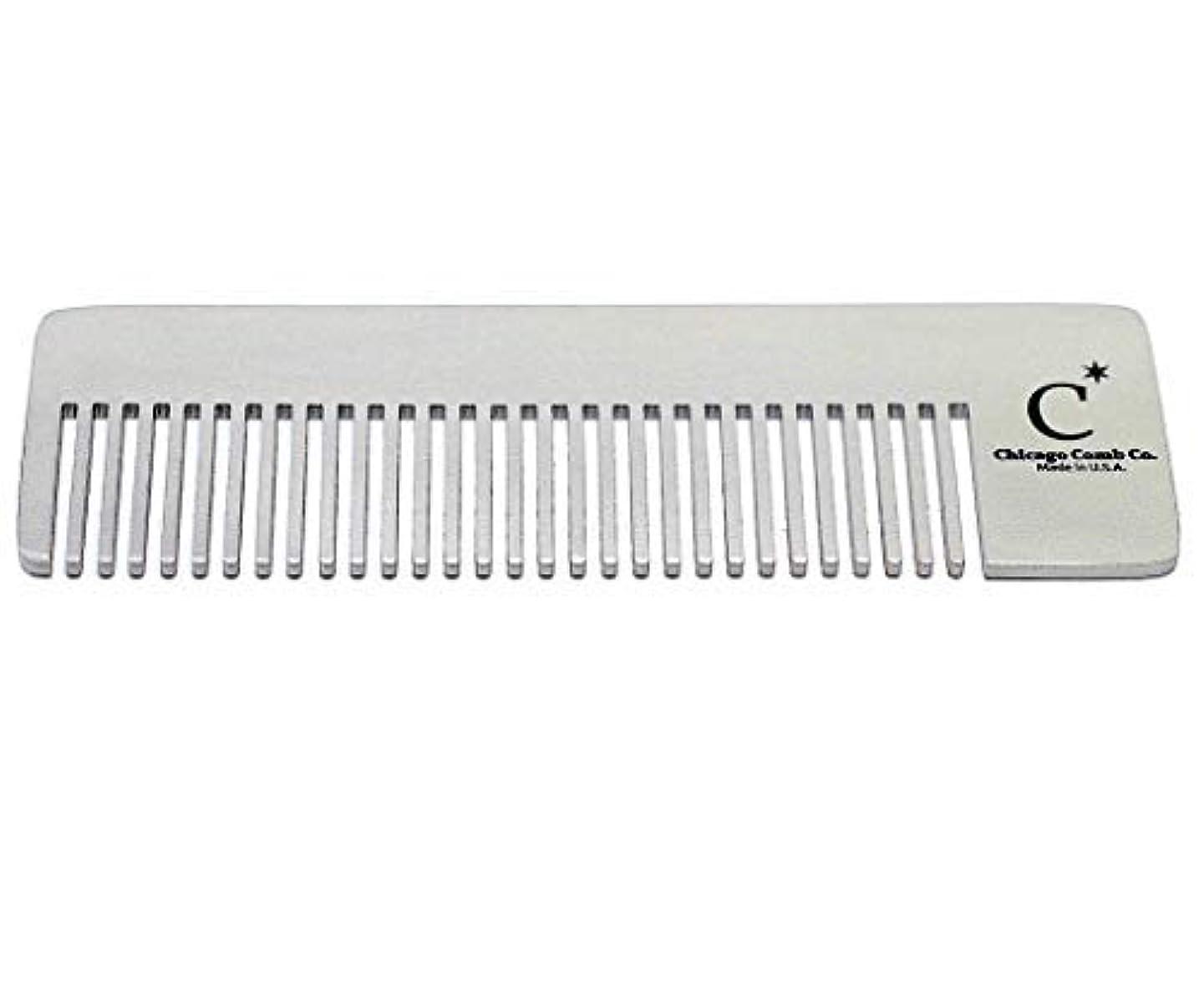 辛なラインナップ助言するChicago Comb Model 4 Standard, Made in USA, Stainless Steel, Ultimate Pocket Comb, Beard & Mustache, Medium-Fine...