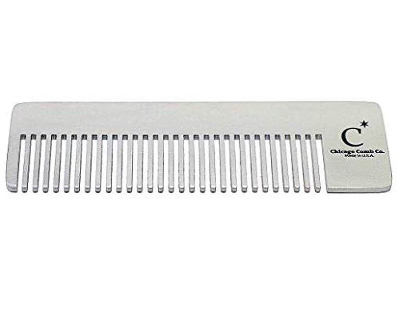 溶接機械モザイクChicago Comb Model 4 Standard, Made in USA, Stainless Steel, Ultimate Pocket Comb, Beard & Mustache, Medium-Fine...