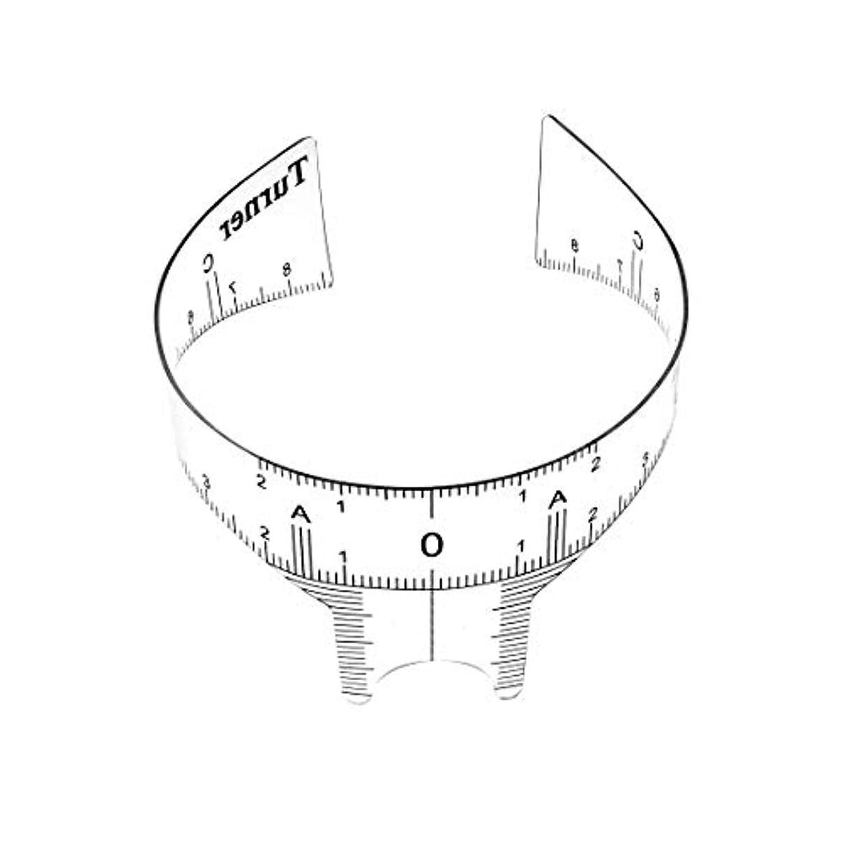 芸術黒くするuxcell ガイド定規 眉毛グルーミングステンシルシェーパー 測定ツール メイクアップ再利用可能