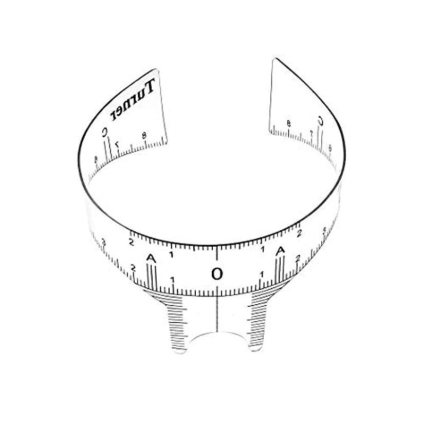 偶然の無駄な機械的にuxcell ガイド定規 眉毛グルーミングステンシルシェーパー 測定ツール メイクアップ再利用可能