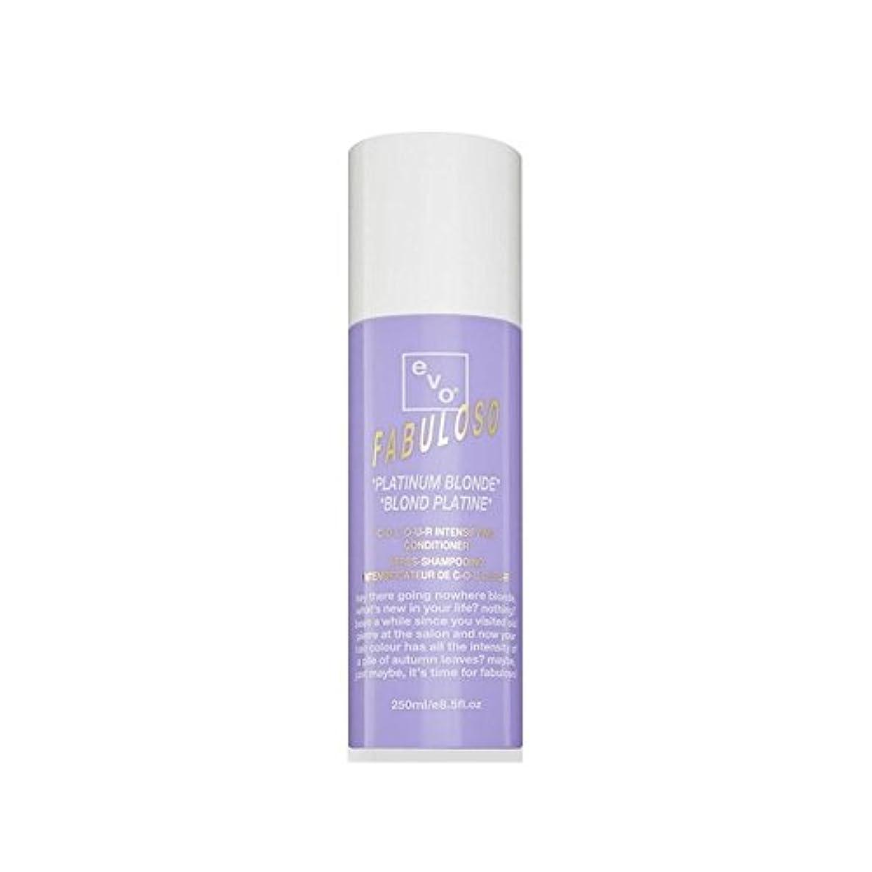 プロット彼らの冷える色増コンディショナープラチナブロンド(250ミリリットル) x4 - Evo Fabuloso Colour Intensifying Conditioner Platinum Blonde (250ml) (Pack...