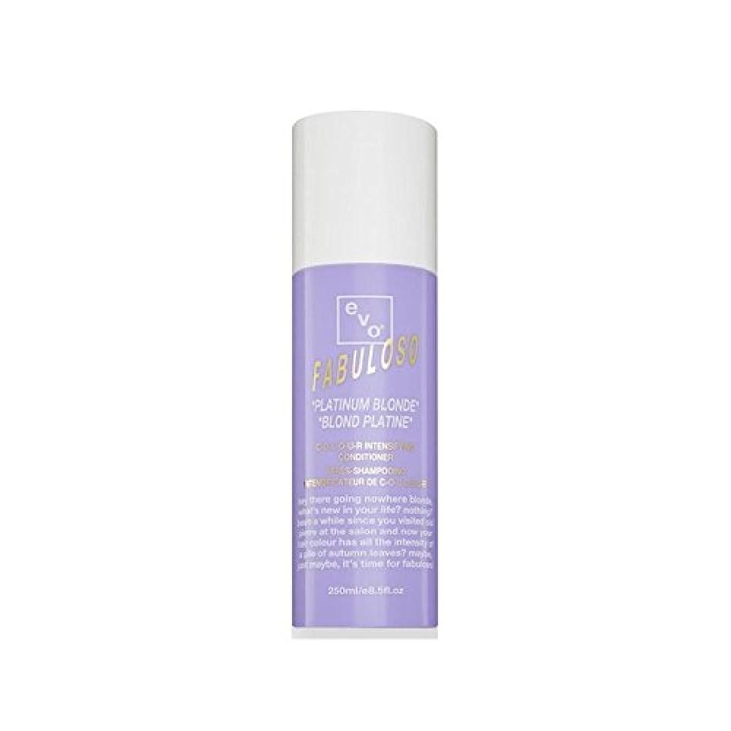 検索不完全特許Evo Fabuloso Colour Intensifying Conditioner Platinum Blonde (250ml) (Pack of 6) - 色増コンディショナープラチナブロンド(250ミリリットル...