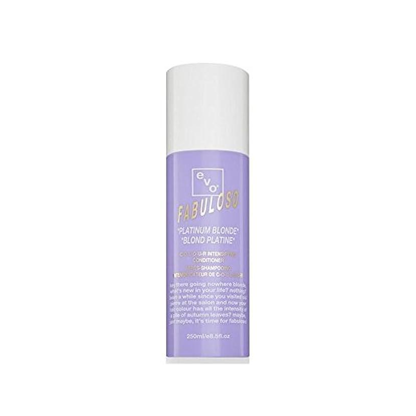 食事を調理する和ボトルEvo Fabuloso Colour Intensifying Conditioner Platinum Blonde (250ml) (Pack of 6) - 色増コンディショナープラチナブロンド(250ミリリットル) x6 [並行輸入品]