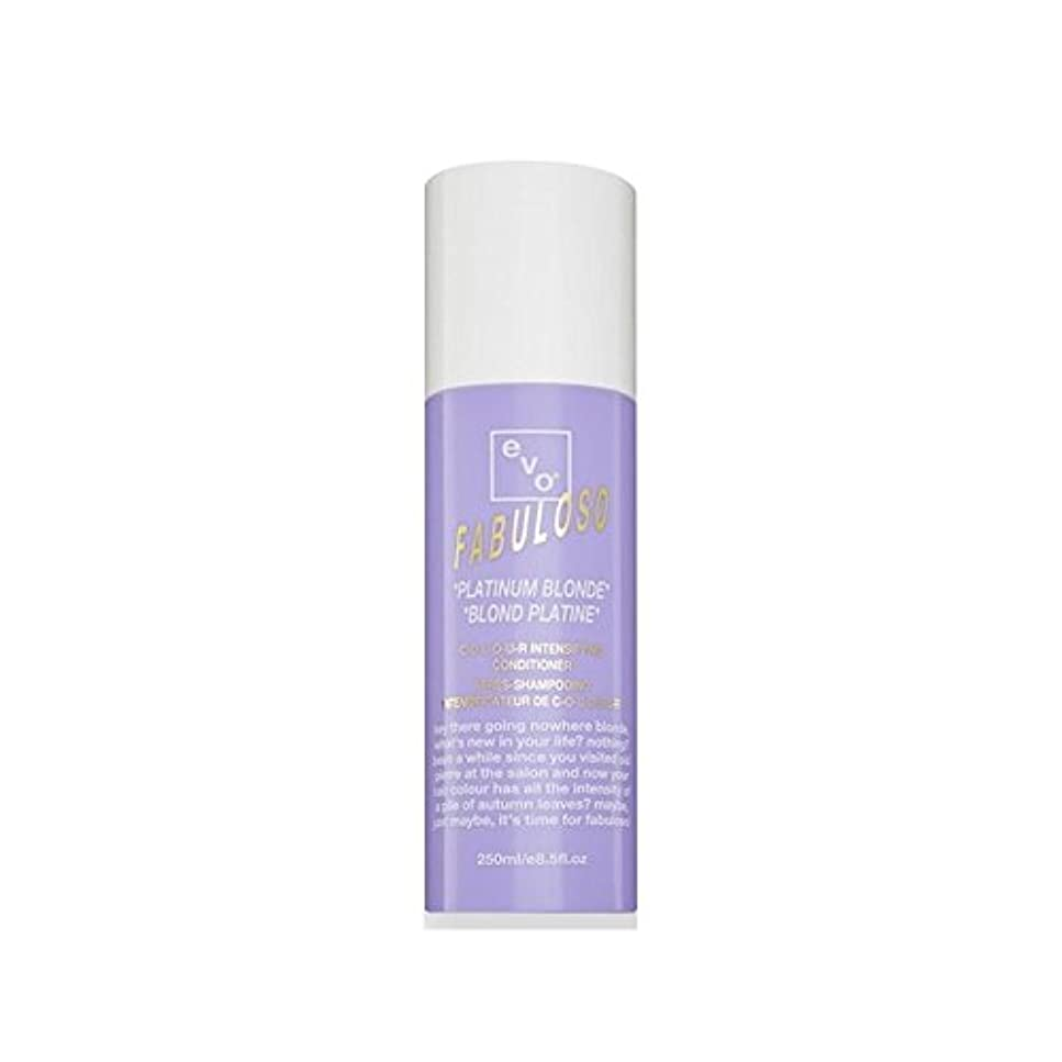 スラム街強制的フェッチEvo Fabuloso Colour Intensifying Conditioner Platinum Blonde (250ml) - 色増コンディショナープラチナブロンド(250ミリリットル) [並行輸入品]