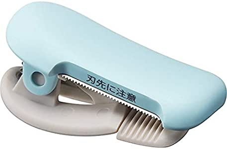 コクヨ テープカッター カルカット クリップタイプ 10~15mm幅用 ライトブルー 2個セット